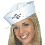 White cotton sailor hat.