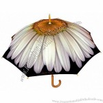White Daisy Floral Umbrella