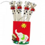 White Dog Polymer Clay Ball pen Ball point Pens Promotional Pen