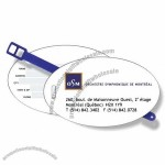 White Gloss Vinyl Luggage Tags
