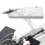 White Home Travel Desk Table Portable Mini Hand-held Clothes Sewing Machine