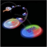 White Light Up Frisbee W/ Multi Color LED Light