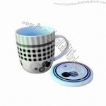 Wholesale 12oz Porcelain Tea Cup with Lid