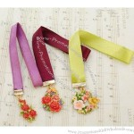 Wholesale Vintage Alloy Crystal Ribbon Flower Bookmarker