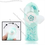 Windmill Style Mini Handheld Electric Fan with Flashlight