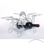 Wine Rack with Wine Glass Rack