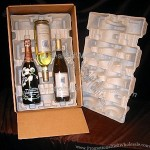 Wine Shipper - 3 pack, Recycled Pulp Trays includes Box