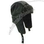 Winter hat with earflaps wool