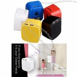 Wireless mini Bluetooth speaker with dual USB outputs