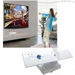 Wireless video game player console by body motion in bigger TV