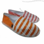 Women's Casual Shoes, Made of PE Sole, with Canvas Upper