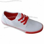 Women's Casual Shoes, Sole made of Rubber and Upper made of Canvas