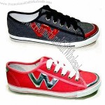 Women's Casual Shoes with Canvas Upper, Textile Lining and Rubber Outsole