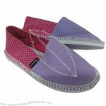 Women's Casual Shoes with PE Sole and Canvas Upper