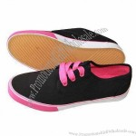 Women's Comfortable Casual Shoes, Upper made of Canvas and Outsole made of Rubber