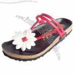 Women's Flat Beach Slippers with Durable Outsole for Slip Resistance