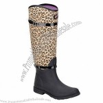 Women's Rain Boots With Leopard Printing