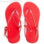 Women's Sandals with Rubber Strap and Rubber Outsole