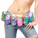 Womens Beer Belt Holster - Multicolour Holds 6 Cans