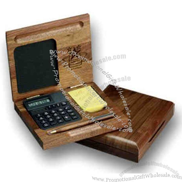 Wood Desk Box With Calculator Made In China 321328794