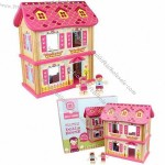 Wood Doll House with Non-toxic Paint