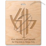 "Wood Golf Tag - 4"" x 5"" Rectangle"