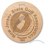 "Wood Golf Tags 3.5"" Diameter"