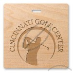 "Wood Golf Tags 3.5""X3.5"" Square"