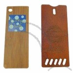 Wood Hangtag with Silkscreen Printing and Laser-cut Pattern