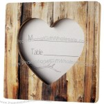 Wood Heart Place Card Holder / Photo Frame