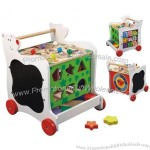 Wood Toy Cart with Wheels