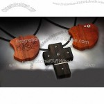 Wooden Apple and Cross USB Flash Drives with Diamond