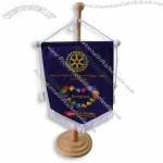 Wooden Base Table Flag / Table Banner