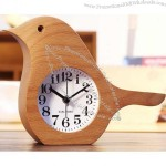 Wooden Bird Shaped Desk Alarm Clock