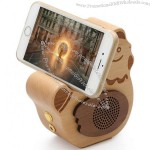 Wooden Chicken Bluetooth Speaker Mobile Phone Holder iPad Stand