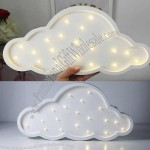 Wooden Cloud Shaped Night Light
