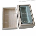 Wooden Cosmetic Box with Foam Insert to Protect Perfume Bottle