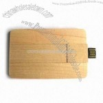 Wooden Credit Card USB Flash Drives