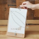 Wooden Desktop Clip Document Holder Board