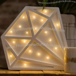 Wooden Diamond Shaped Night Light