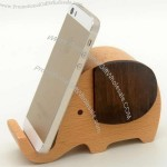 Wooden Elephant Music Box Mobile Phone Display Stand