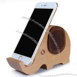 Wooden Elephant Shaped Bluetooth Speaker Mobile Display Stand