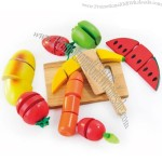 Wooden Fruit Cute Kitchen Cooking Toys Set for Children