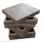 Wooden Gift Box with Burnt Color