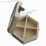 Wooden Gift Box with Glass Window and Polished Finish