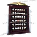 Wooden Golf Ball Cabinet with Clock