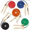 Wooden handle jump rope in solid colors