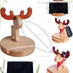 Wooden Muntjacs Cell Phone iPad Stand Holder