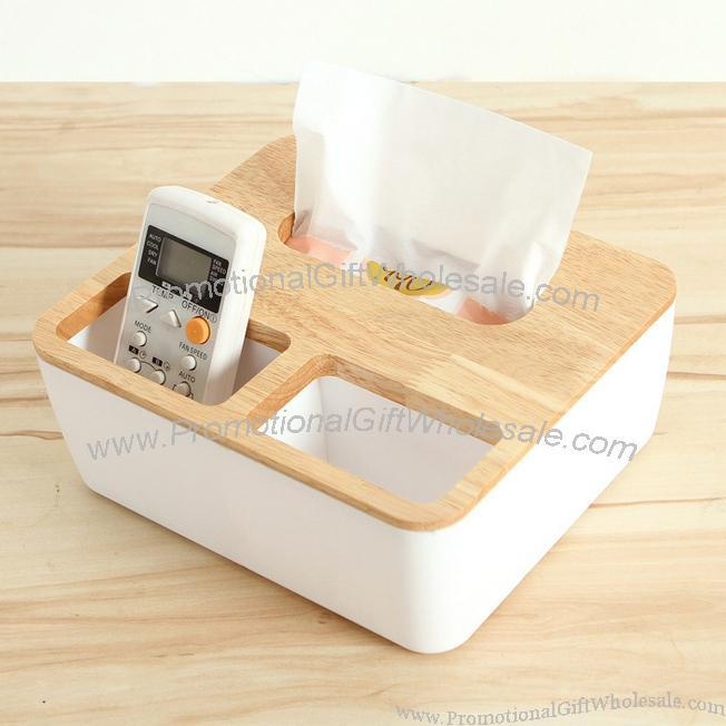 Promotional wooden tissues box and desk organizer gift - Desk organizer box ...