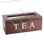Wooden Walnut Finished Tea Bag Gift Packaging Box